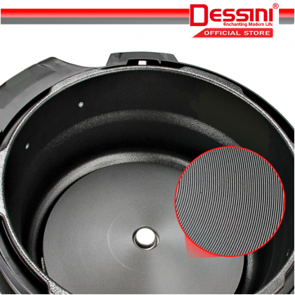DESSINI ITALY 10 IN 1 8L Electric Digital Pressure Cooker Non-stick Stainless Steel Inner Pot Rice Cooker Steamer