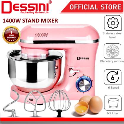 DESSINI ITALY 6 Speed Electric Stand Mixer Egg Beater Blender Grinder Dough Whisk Mesin 6.5L Bowl Pengadun Bancuh Telur