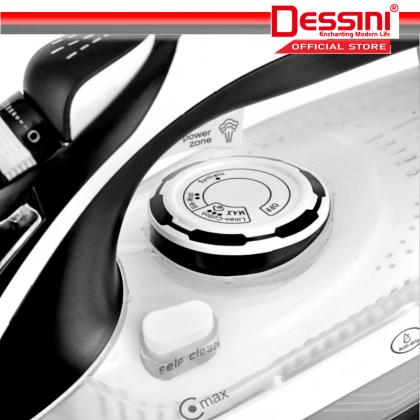 DESSINI ITALY 2800W Electric Ceramic Soleplate Garment Steam Iron Sprayer Steamer Clothes Brush / Seterika Baju