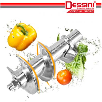 DESSINI ITALY 1600W Stainless Steel Electric Meat Grinders Sausage Maker Stuffer Blender Chopper Mixer Mincer / Pengisar